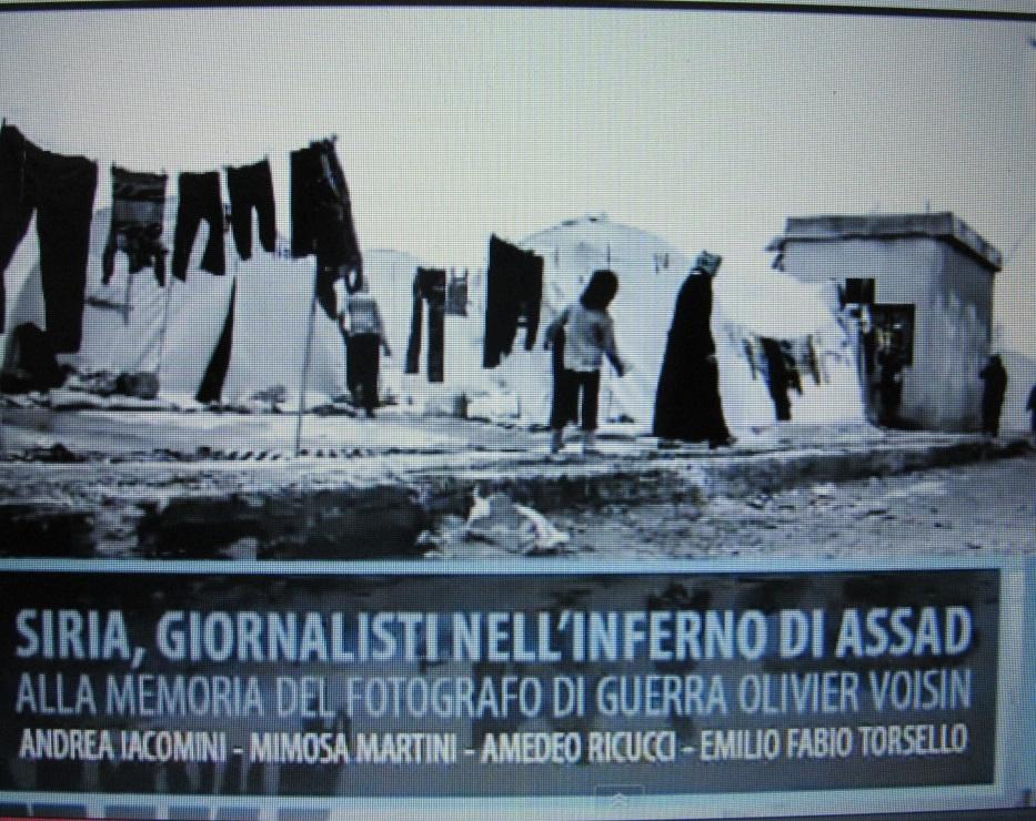Perugia: Siria – giornalismo nell'inferno di Assad