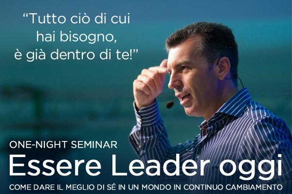"""Il nuovo tour di Roberto Re insegna come """"Essere Leader oggi"""""""
