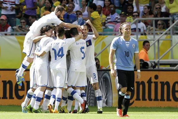 Confederation Cup: Italia rigorosamente terza. Battuta l'Uruguay!