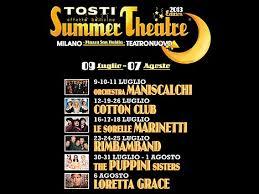 Tosti Summer Theatre: festival estivo al Teatro Nuovo, con sfiziose degustazioni e spumante
