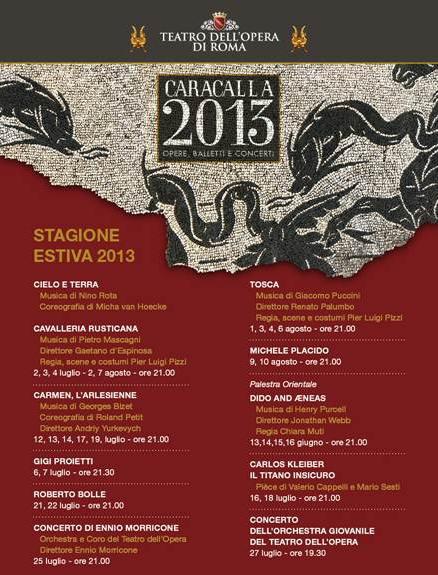 Caracalla 2013, lo spettacolo a Roma