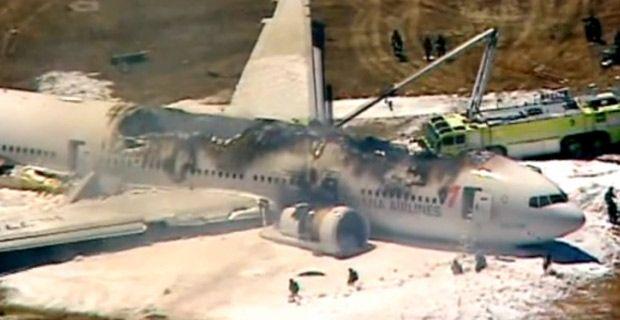 San Francisco:Un aereo impatta sulla pista e va a fuoco. Bilancio provvisorio 2 morti e 182 feriti