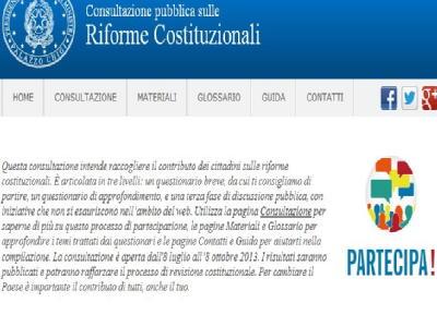 La parola ai cittadini su partecipa.gov.it: dai il tuo contributo alla riforma costituzionale