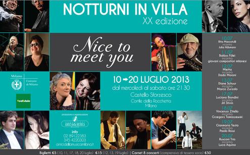 Notturni in Villa riempie di musica il cuore di Milano