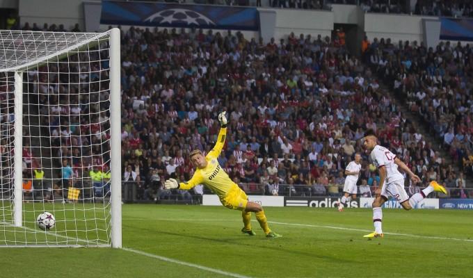 """Preliminari Champions:il Milan pareggia con l'Eindhoven. Torna al gol """" il Faraone."""""""