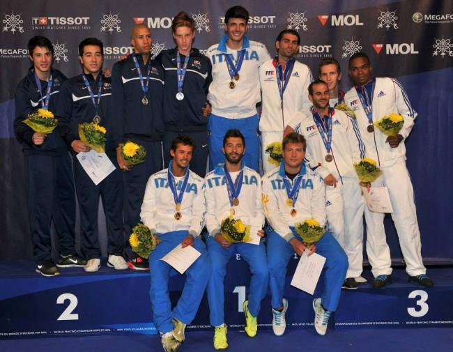 Italia che soddisfazione! Vince 6 medaglie ed è seconda ai mondiali di scherma.
