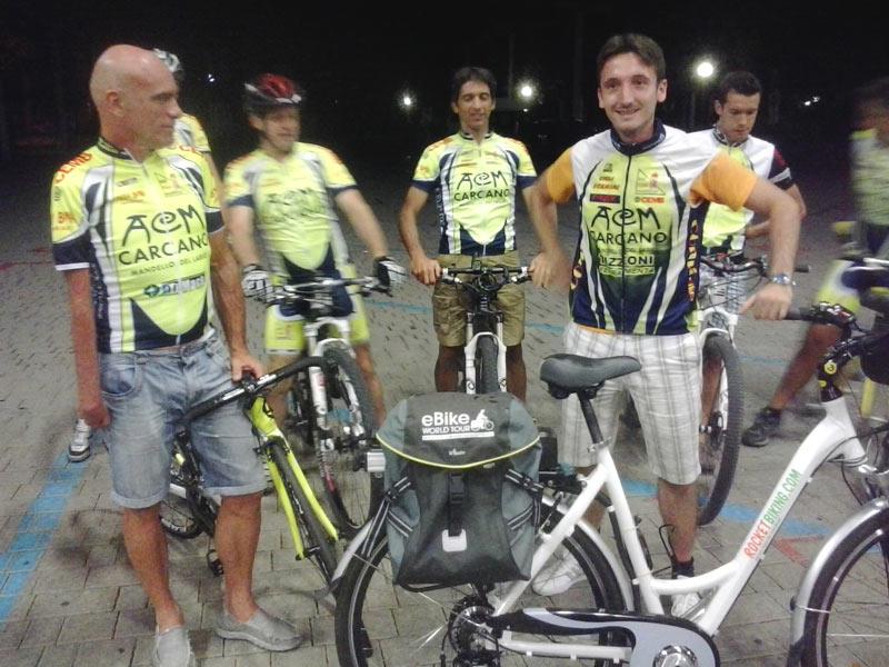 Ri-parte oggi da Cuggiono (MI) il Giro d'Italia: al via solo Marco Invernizzi e la sua bici elettrica