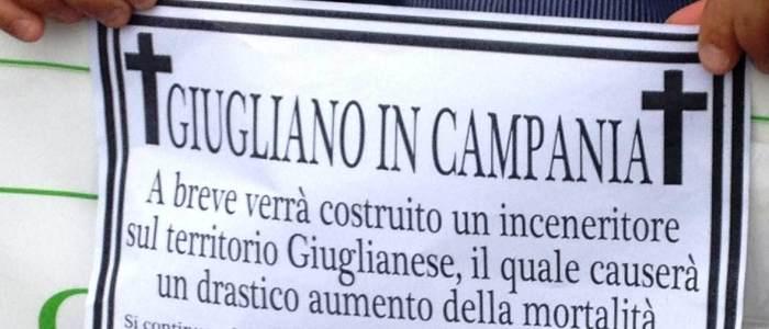Napoli: manifesti funebri e proteste a Giugliano: no all'inceneritore