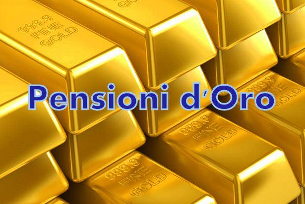 Pensioni d'oro: erogati fino a 3 mila euro al giorno a centomila superpensionati