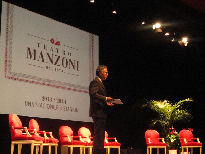 La  nuova stagione 2013/2014 del Teatro  Manzoni  si fa in quattro per accontentare il suo pubblico
