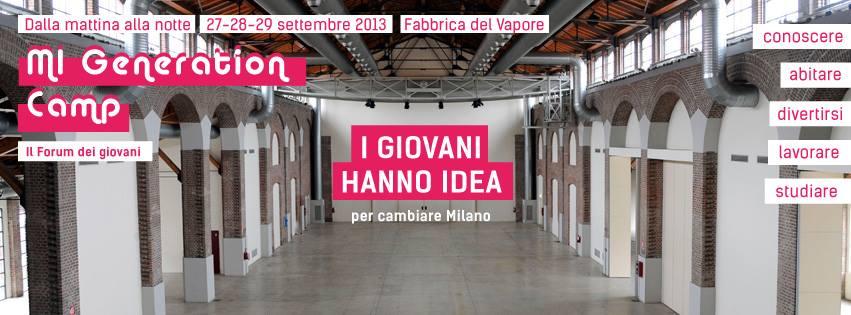 """Al via """"Mi Generation Camp"""" il 1° Forum dei giovani: le loro idee per cambiare Milano"""