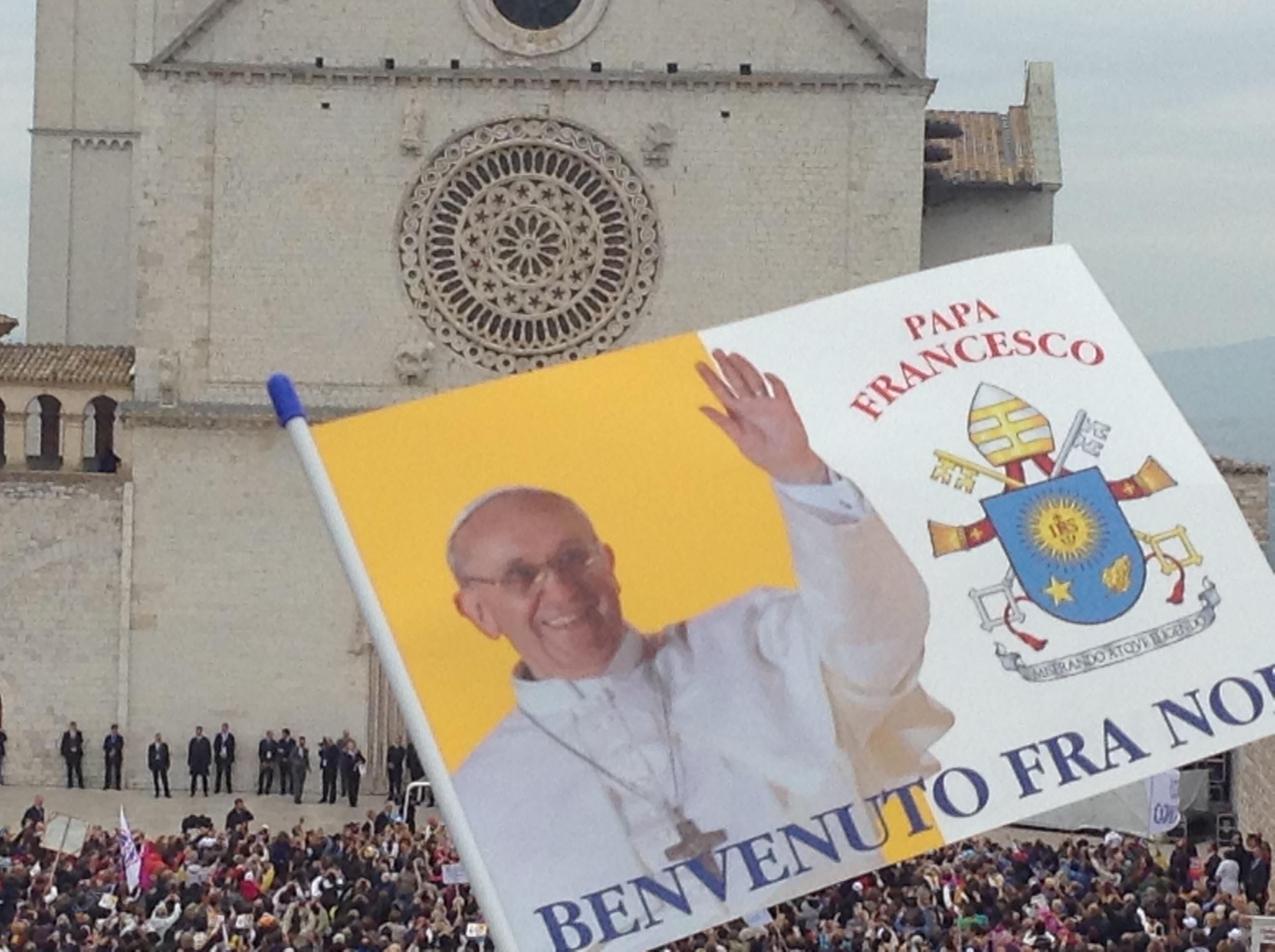 4 ottobre 2013. Papa Francesco ad Assisi