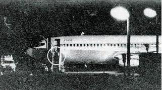 Il Boeing della TWA atterrato a Roma