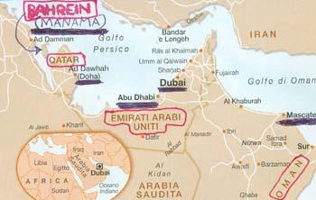 Legge discriminatoria, allo studio negli stati del Golfo Persico, per rilevare i viaggiatori gay prima dell'ingresso in quei Paesi