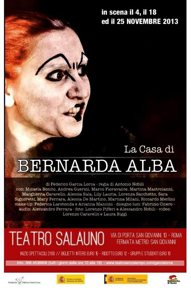 """""""La casa di Bernarda Alba"""": al Teatro SalaUno di Roma"""