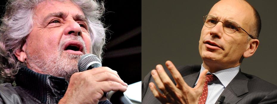 Bonus giovani: nuovo scontro tra Letta e Grillo