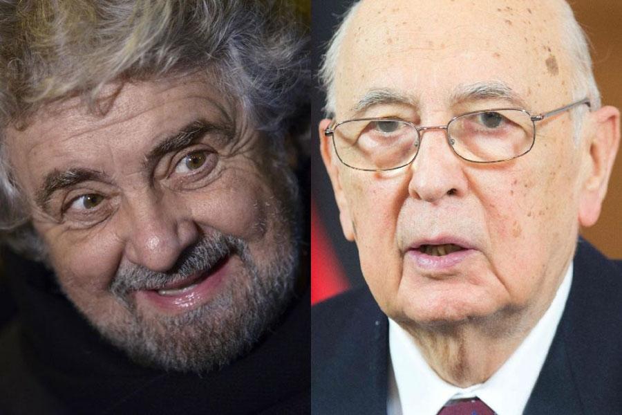 """Attacco natalizio di Grillo contro Napolitano:""""Impeachment a gennaio"""""""