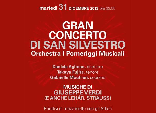 Gran Concerto di San Silvestro e Brindisi di mezzanotte con gli artisti