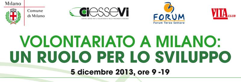 """Giornata mondiale del volontariato: """"Volontariato a Milano: un ruolo per lo sviluppo"""""""