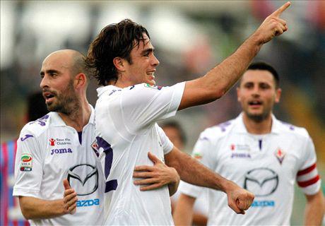 La Fiorentina vince in scioltezza contro il Catania: al Massimino finisce 3-0 per i Gigliati