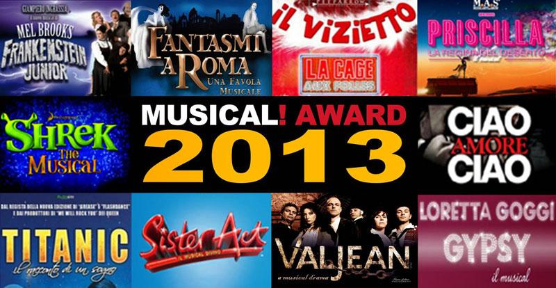 Musical Award  e Premio Etta Limiti Musical 2013: Gala di premiazione al Manzoni di Milano