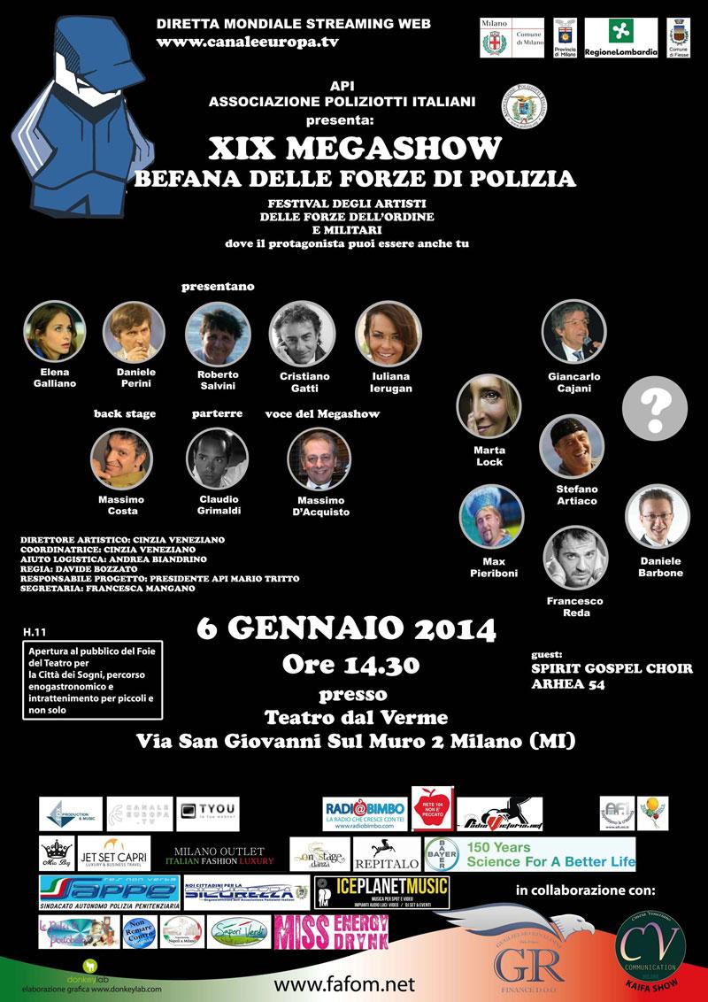 Festival Fafom e Befana delle Forze di Polizia – XXIV edizione – Teatro dal Verme di Milano