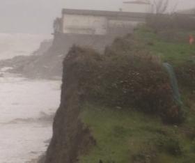 Reggio Calabria: il mare si porta via un pezzo dell'antica Kaulon