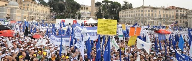 """Imprenditori in Piazza del Popolo. """"Senza impresa non c'è Italia"""""""