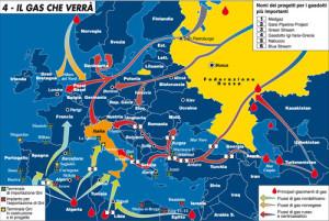 Mappa gas Europeo - fonte: La Repubblica