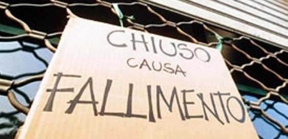 Crisi: fallimenti in aumento, 3600 in tre mesi