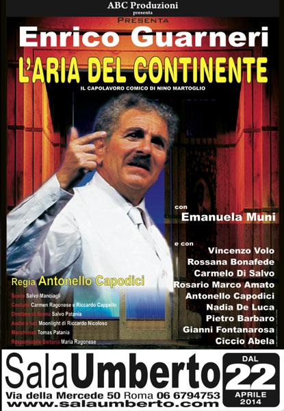 L'aria del Continente di Nino Martoglio al Teatro Sala Umberto