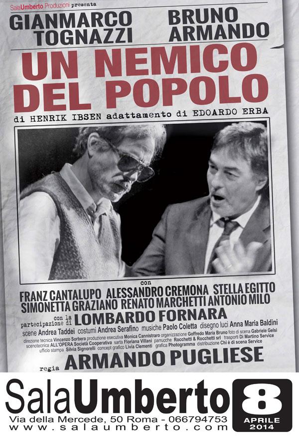 """""""Un Nemico del Popolo"""", prima nazionale al Teatro Sala Umberto"""