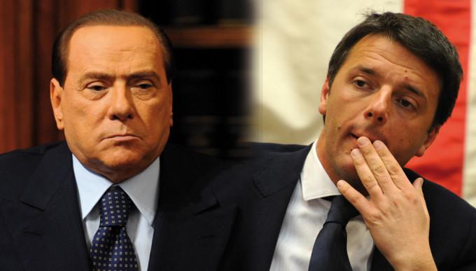 Vertice Renzi — Berlusconi. Brunetta attacca: «Italicum o caduta governo»