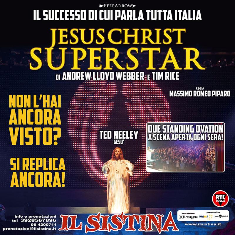 """""""Jesus Christ Superstar"""", proseguono le repliche al Sistina di Roma"""