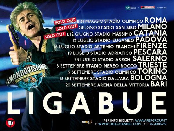Ligabue: Mondo visione Tour – Stadi 2014