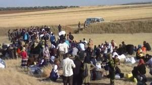 Alcuni sfollati siriani