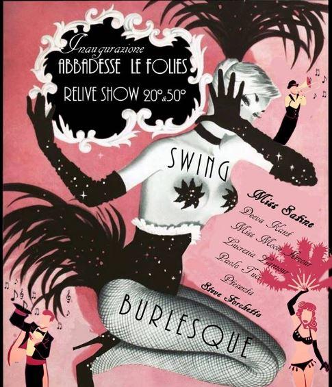 Abbadesse les Folies: inaugurazione 7 giugno con orchestra Swing e Burlesque