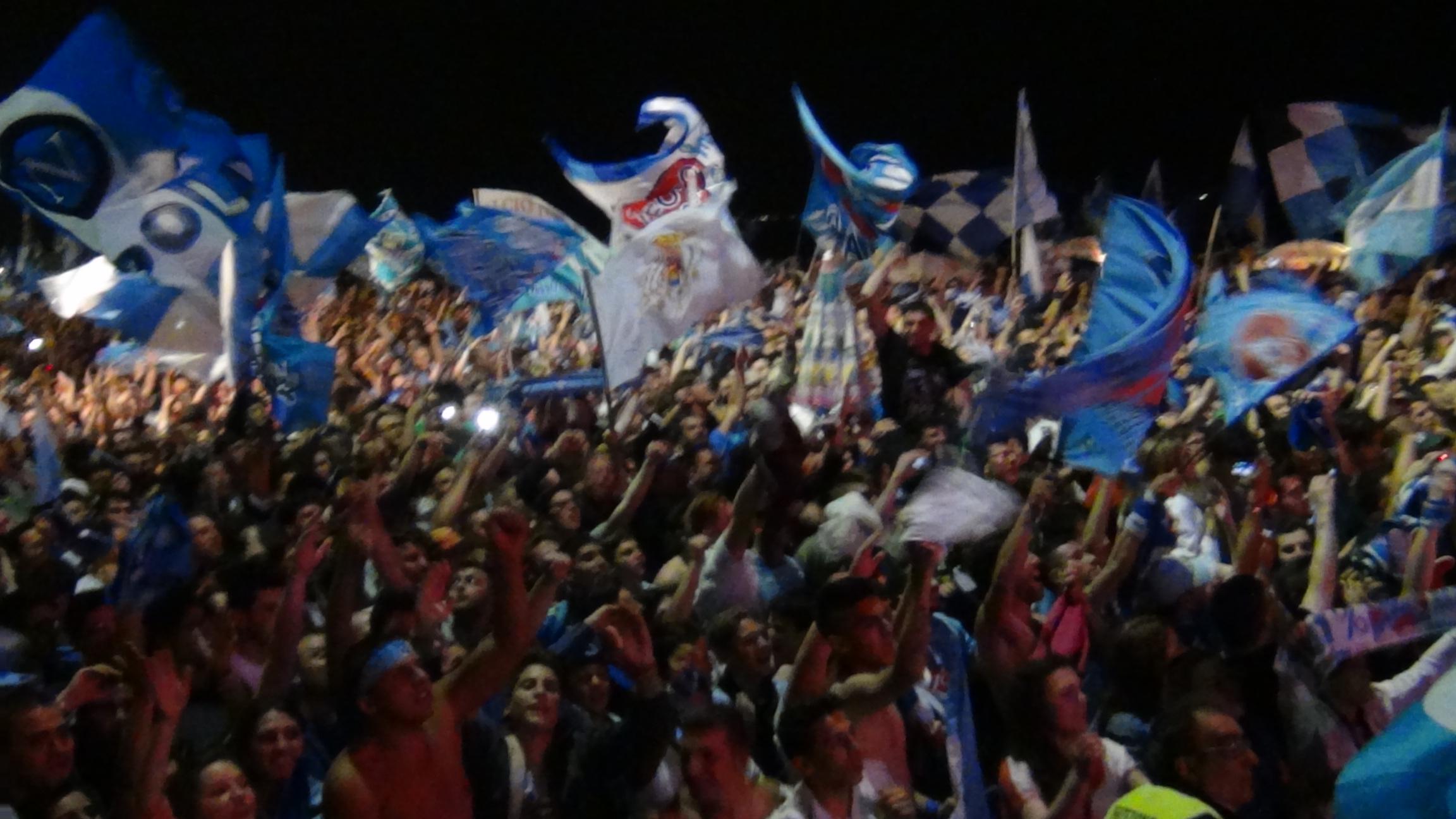Il Napoli vince la Coppa Italia. Festa azzurra in città…