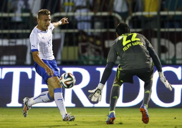 Immobile in forma mundial. Tre gol e Italia che dilaga in amichevole