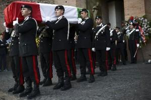 I funerali di Manuele Braj, ucciso il 25 giugno 2012