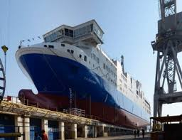 Varata a Castellammare la prima nave tecnologica a gas