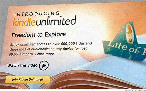Kindle Unlimited, per 9,99 dollari oltre 600.000 ebook
