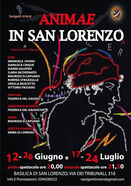 """Animae in San Lorenzo"""", satira tra vita e morte, in San Lorenzo Maggiore, a Napoli."""