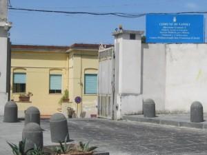 """L'ingresso dell'istituto comunale """"San Francesco"""" a Marechiaro"""