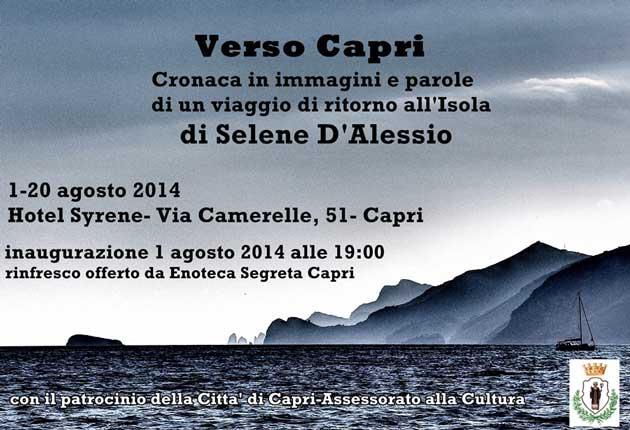 Immagini di Capri di Selene D'Alessio in mostra dal 1 agosto sull'isola azzurra