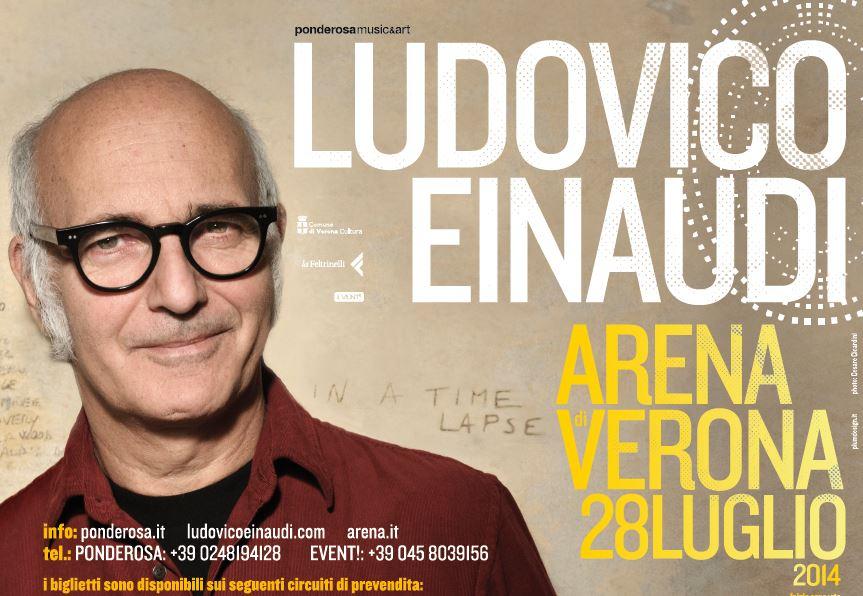 Ludovico Einaudi – Arena di Verona il 28 luglio