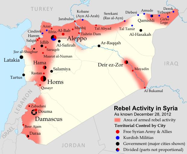 Siria: i ribelli avanzano nella provincia centrale di Hamas