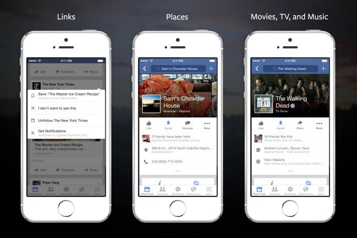 """Facebook: in arrivo a breve il tasto """"salva"""""""