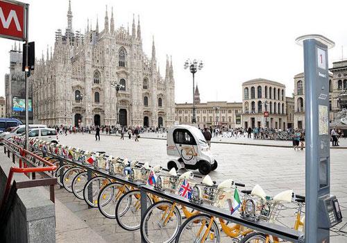 Per il semestre europeo le bici BIKEMI si vestono dei colori dell'Europa