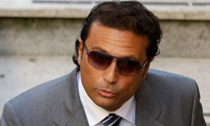 Francesco Schettino arrives in court in Grosseto
